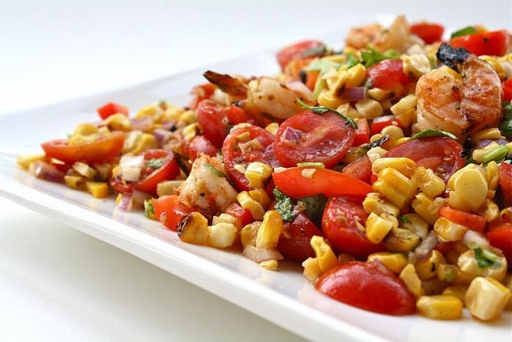 Grilled Corn with Shrimp Salad | salads | Pinterest | Shrimp Salads ...