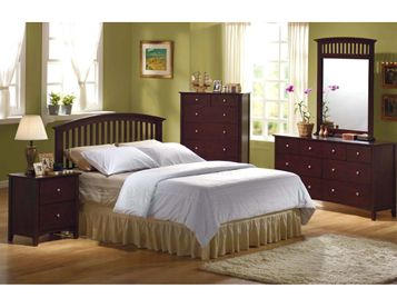 This Metro Bedroom Group From Woodhaven Features Contemporary Styling And An Espresso Finish Accented With Brushed