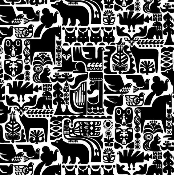 Scandinavian textile print. They have the best designs and patterns.