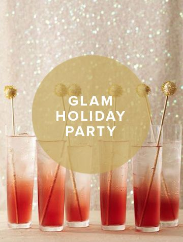 30 Days of Holiday Party Ideas: Glam Holiday Party