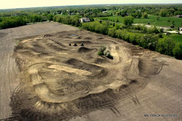 The MX Track Builders team built another impressive private track (this one is a private motocross track!) just outside of Chicago, Illinois. Arial shots like these are a rarity to capture, especially just minutes after completing the build. Check out mxtrackbuilders.com and MX TRACK BUILDERS on Facebook to stay up to date with all the latest track building projects.