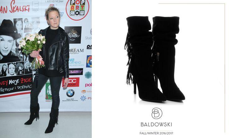 Lara Gessler wearing Baldowski #fashion #boots #fringes #fallwinter #suede #baldowski #lara #gessler   www.baldowski.pl/kozaki/baldowski/d001525/p-1045.html