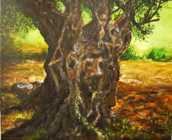 Olive Tree Rooted 1 Painting   by Lizzy Forrester