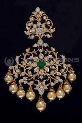Indian Jewellery and Clothing: Diamond pendants