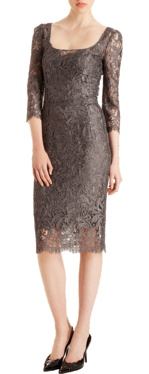 I have just GOT to get 50 more pounds off before Samantha's December wedding!  This will totally be my mother-of-the-bride dress!!    Dolce & Gabbana Lace Sheath Dress