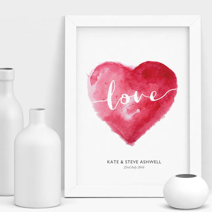 Love truly makes the world go round! This unique, stylish watercolour love heart is an ideal home decor styling solution for any room.Limited edition fine art print, hand finished in our studio in Buckinghamshire using fade resistant pigment ink onto exquisite quality giclée museum archival paper. Only a limited number of prints left! All of our giclée prints are produced on a museum quality archival fine art paper using fade-resistance pigment ink. Our work is designed, printed...