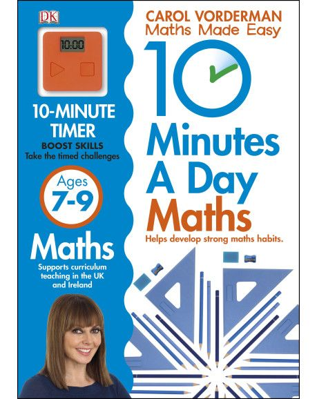 Set the clock and off you go! Young learners excel in short bursts, so 10 Minutes a Day Basic Maths Skills from Carol Vorderman