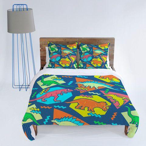 Chobopop 90s Dinosaur Pattern Duvet Cover