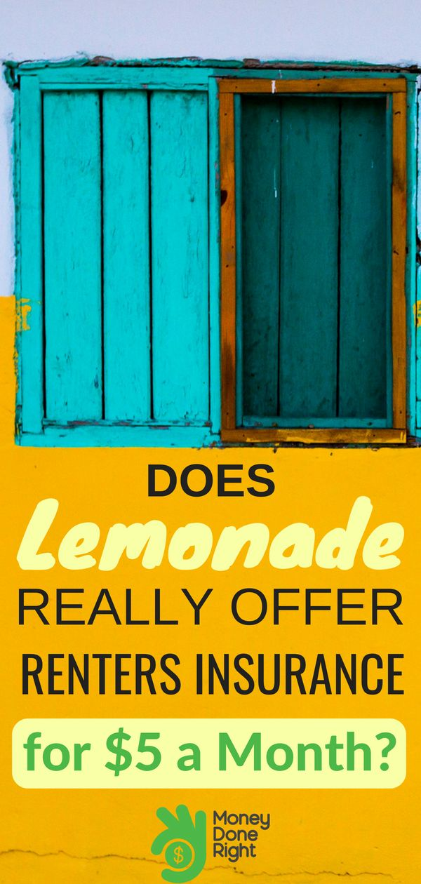 Lemonade Renters Insurance Review 2020 5PerMonth