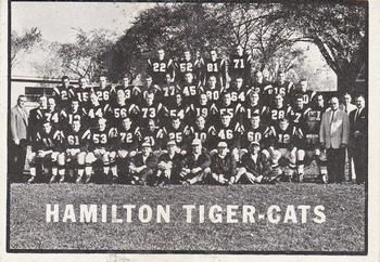 1961 Topps CFL #58 Tiger-Cats Team Photo Front