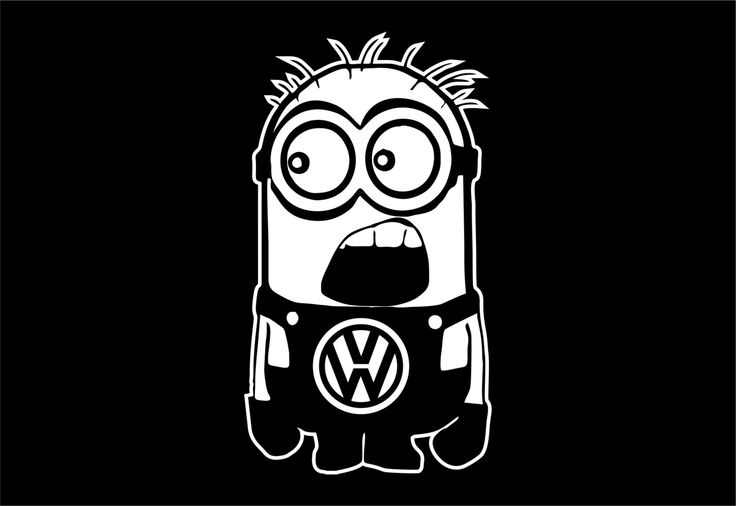 VW Minion Decal Sticker Car Decal Laptop Decal by ...