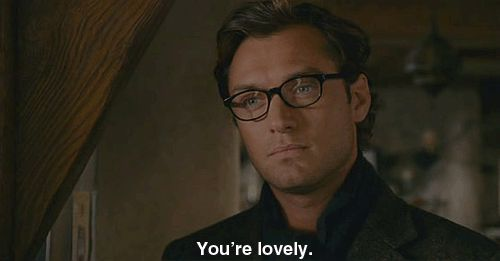 Jude Law, glasses, gif, you're lovely,