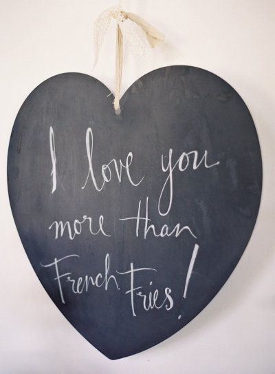 A true declaration of love.