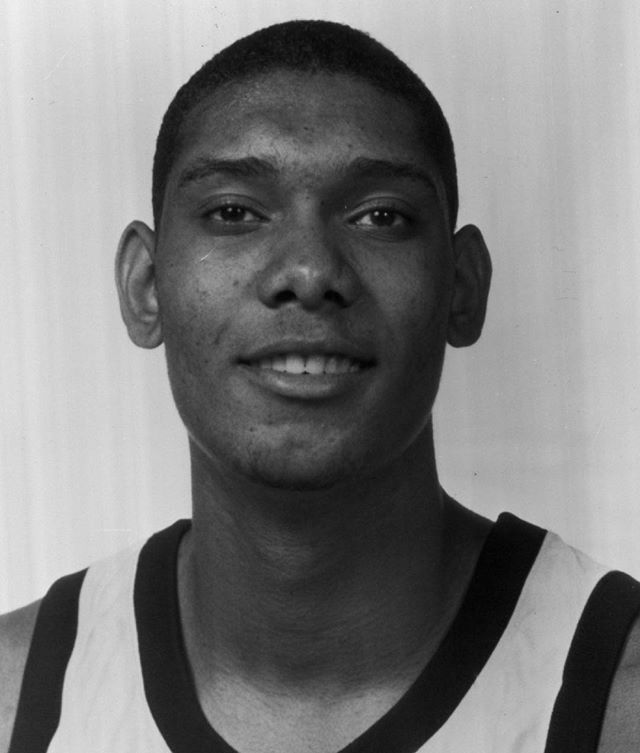 Believe it or not, Tim Duncan was actually young once. #tbt #nba (Getty)