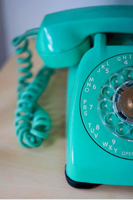 Dial a Vintage Turquoise Phone