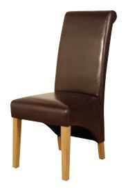 rocco dining chair, brown rocco dining chair, rocco furniture, rocco dining, faux leather dining chairs, oak leg chairs, cork furniture, dublin furniture, irish furniture