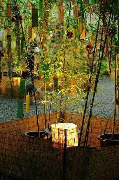 七夕 京都 貴船神社の七夕ライトアップ。