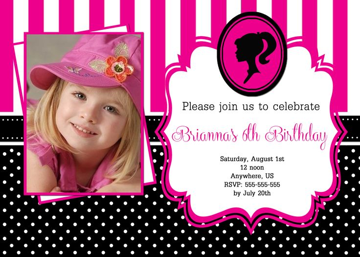 Best 25+ Barbie birthday invitations ideas on Pinterest Barbie - birthday invitation model