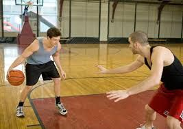 I like to play pickup games of basketball with my friends.