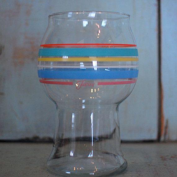 Fiestaware Candleholder Glass Vase Fiesta Signed 1980s Colors Southwestern Turquoise on Etsy, $24.00