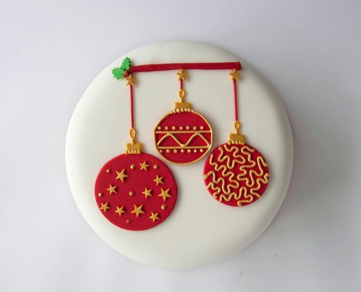 Christmas Bauble Cake Images : Bauble cake Christmas cakes Pinterest