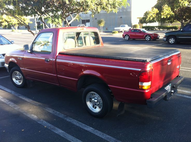 My 1997 Red Ford Ranger Truck