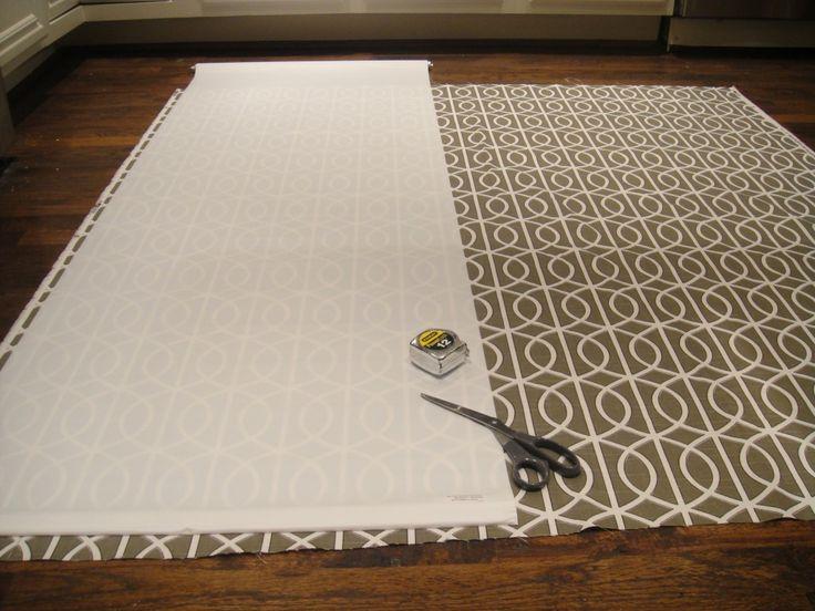 DIY fabric rollershade