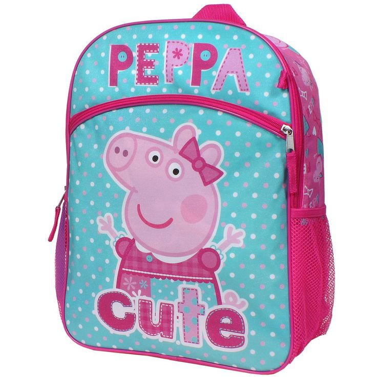 Girls Peppa Pig 5-pc. Backpack, Lunch Box & Accessories Set, Multicolor