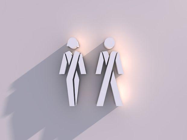 アメリカでは、トイレが性別で分けられているために様々な精神的・身体的苦痛を被るLGBTの人々のために、「ジェンダー・ニュートラル」なトイレが普及しつつある。付き添いの必要な子どもや障害者にもメリットは大きい。