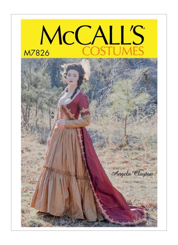 M7642 McCall/'s 7642 Sewing Pattern Misses/' Renaissance Gown Costume Dress