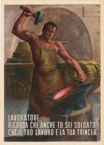 Lavoratore-Ricorda-Anche-Tu-Sei-Soldato-illustrata-da-Boccasile-Gino