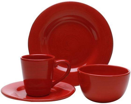 Napa 16-Piece Dinnerware Set red  sc 1 st  Pinterest & 40 best Dishes - red dinnerware images on Pinterest | Dish sets ...