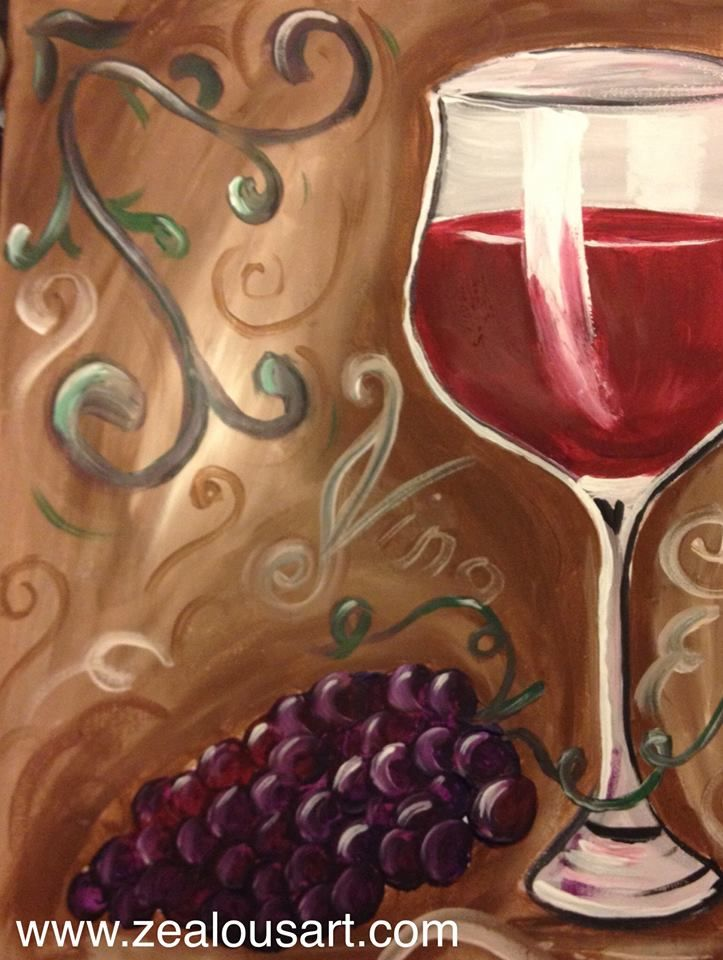 youcanpaintthis winetime Sunday October 19 at NY Grill and Bistro in Langley BC   ZealousArt Painting party Art party  Paint night  Date night