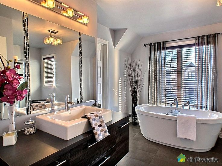 48 best salles de bain images on pinterest condos architecture and bathroom designs for Belle salle de bain moderne