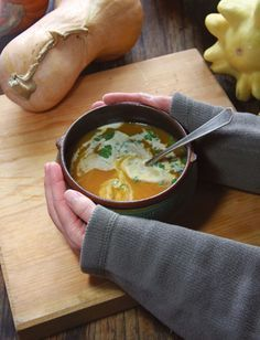 Curried Winter Squash Bisque In their classic cookbook Giving Thanks, food historians Kathleen Curtin and Sandra Oliver reached all the way back to the 1970s for inspiration for this versatile soup. It's great all winter long with any of our favorite storage cucurbits, like sugar pumpkin or butternut or blue Hubbard squash.
