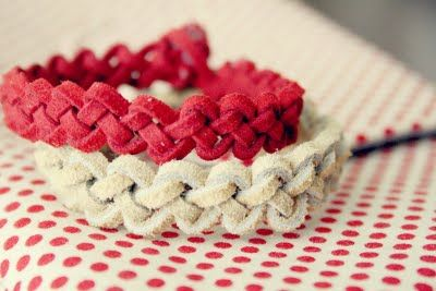 Slip Knot Leather Bracelets {DIY} (do with cord instead of suede)