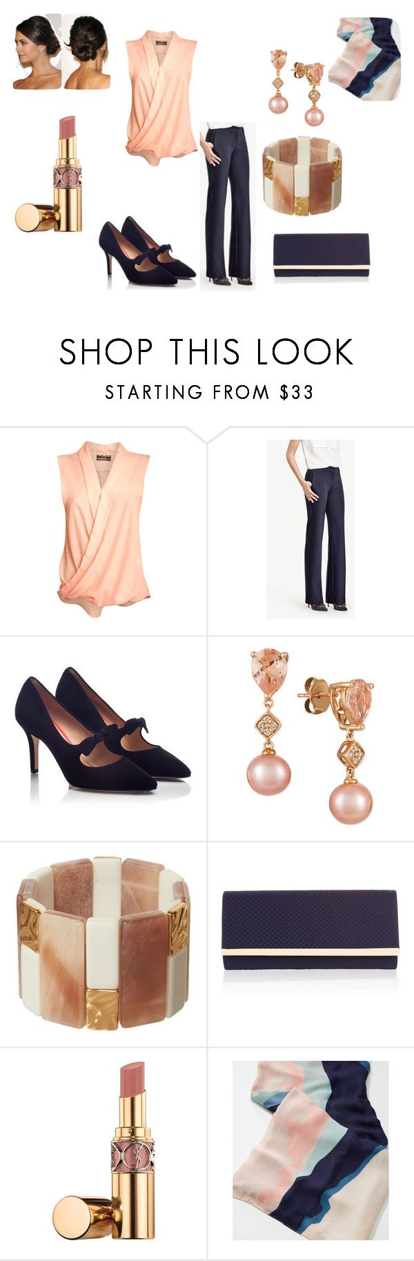 """""""Untitled #54"""" by jrrenner76 ❤ liked on Polyvore featuring Pilot, Ann Taylor, PAS DE ROUGE, LE VIAN, Phase Eight, Accessorize, Yves Saint Laurent, LOFT, cocktails and happyhour"""