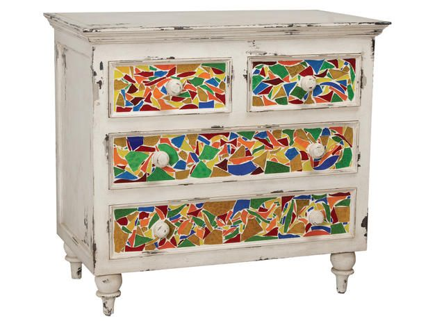 Best Mosaic Furniture Images On Pinterest Mosaic Art Mosaic - Colorful glass drawers that can form an art object