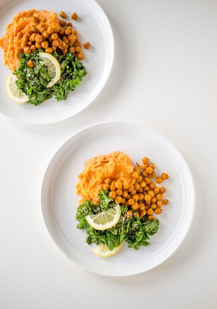 bataattimuusi + mausteiset kikherneet / feel good kitchen