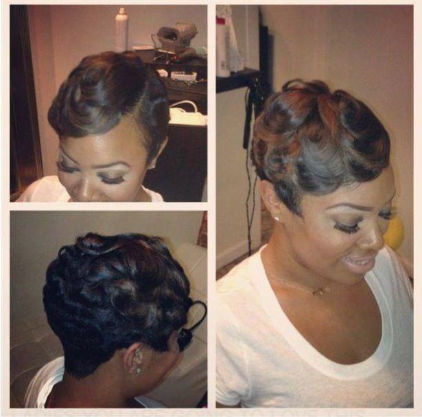 Pleasing 1000 Ideas About Finger Waves Short Hair On Pinterest Finger Short Hairstyles For Black Women Fulllsitofus
