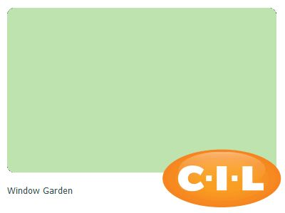 Look at this gorgeous CIL paint colour I found at CIL.ca!  It's Window Garden 50GY 69/306.