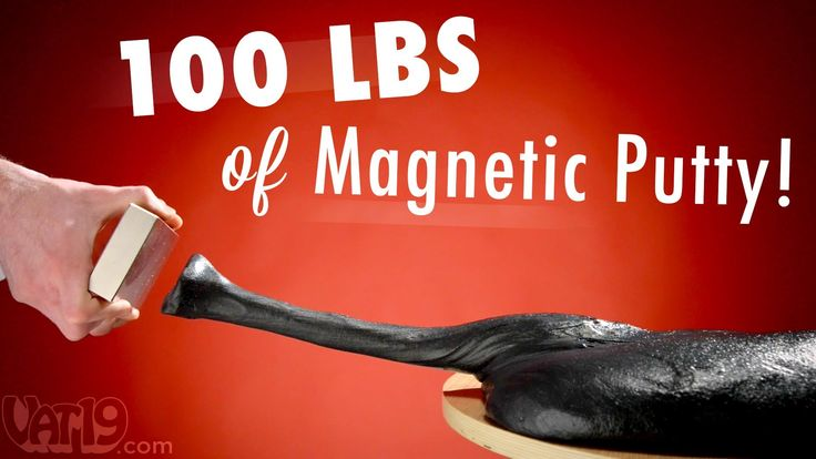 #SCIENCE! 100 lbs (45 kg) of #MagneticPutty