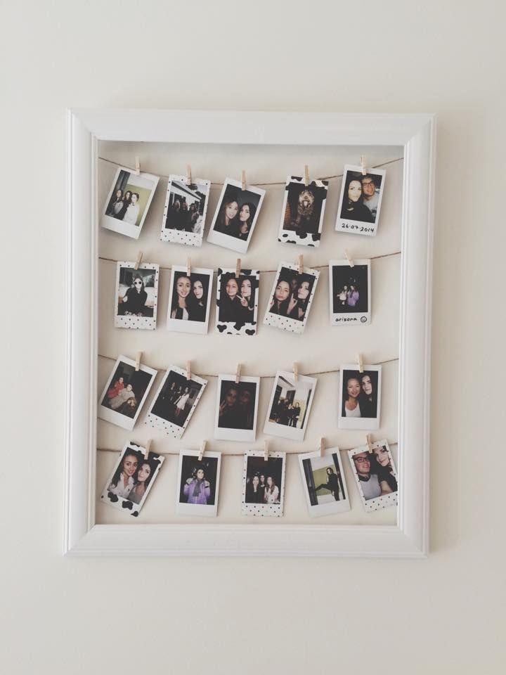 850 besten diy deko bilder auf pinterest dr who for Polaroid lichterkette