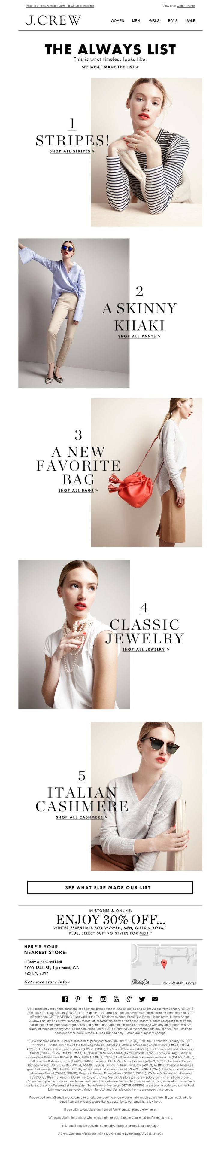 J.Crew - The Always List: more of the items that will never, ever go out of style
