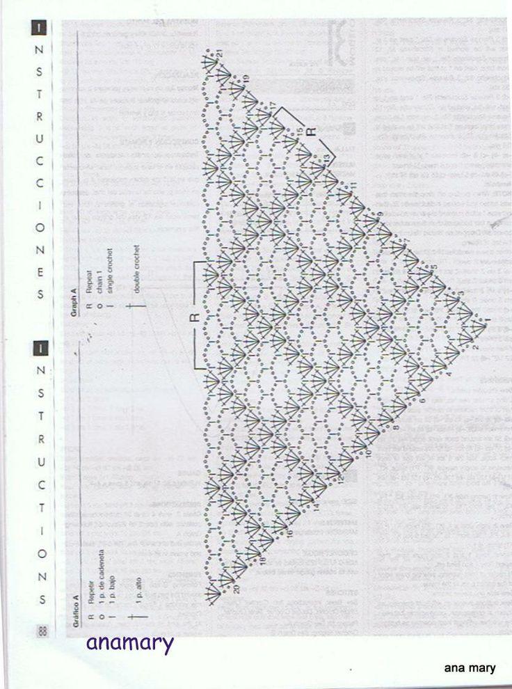 7912 best ganchillo images on Pinterest | Crochet patterns, Ponchos ...