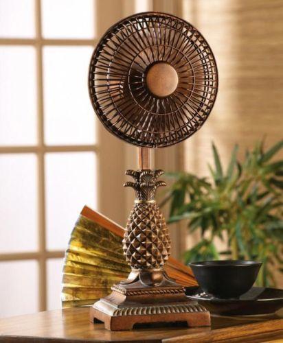 Tropical Home Decor Unique Tropical Pineapple Table Fan