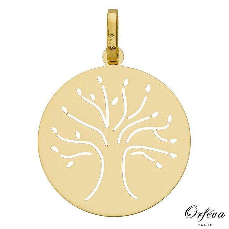 Médaille arbre de vie (Or jaune) €144