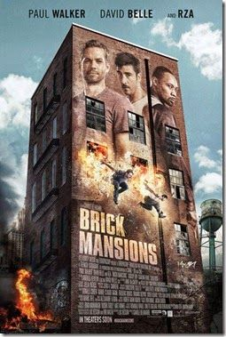 Paul Walker, David Belle and RZA star in the District B13 remake Brick Mansions. Watch the Brick Mansions movie trailer and view the poster below. Set in dystopian Detroit, undercover cop Damien Collier (Walker) and ex-convict Lino (Belle) try to infiltrate abandoned brick mansions that house drug kingpin Tremaine (RZA) and the city's most dangerous criminals.