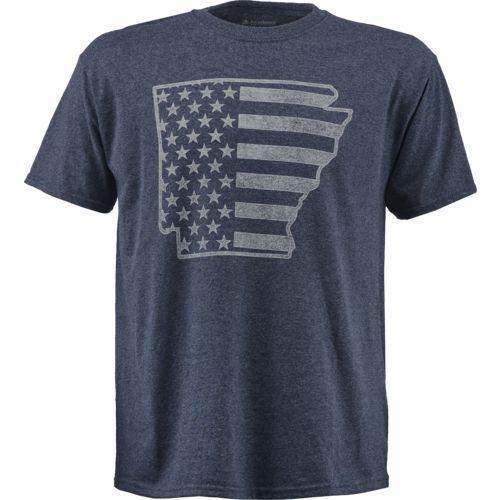 Academy Sports + Outdoors™ Men's Arkansas American Flag T-shirt