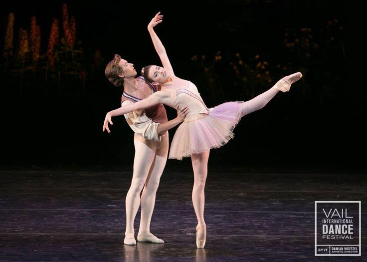 Tiler Peck & Joseph Gordon perform Balanchine's Divertimento Brillante in Saturday's International Evenings program of the 2016 Festival.  Photo by Erin Baiano